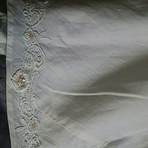 Newport News Dresses - White Embroidered Lace Maxi dress Size 4